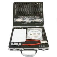 원래 자동차 자물쇠 따기 도구 32 PCS Lishi 2 in 1 디코더 점화성 Lishi 도구 자동 잠금 선택 세트