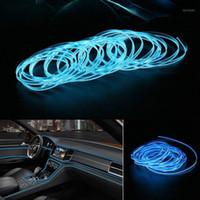 2M 자동차 LED 스트립 라이트 장식 조명 네온 램프 자동 인테리어 가제트 액세서리 유연한 el 와이어 USB 스트립 밤 light1