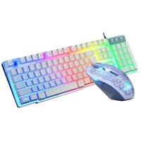 ل T6 rainbow المبهرة USB الكابلات الأنثروبولوجية لعبة لوحة المفاتيح والماوس + لوحة الماوس set1