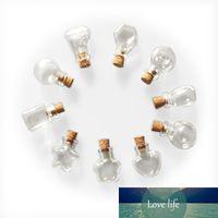 Mini bouteilles de verre mignon collier pendentifs petits bouteilles de bricolage avec liège bricolage cadeau de mariage jars vides de flacons 10 forme bouteille minuscule