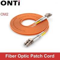 Équipement de fibre optique Onti 1000mbps Multimode LC-LC Câble de câble Câble UPC LC-ST MM Jumper optique Duplex OM2 3M 10M 30m1