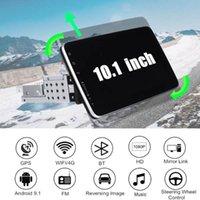 """10.1 """"الروبوت 9.1 سيارة ستيريو الراديو 1din gps الملاحة 4G wifi 2.5d ips شاشة الوسائط المتعددة MP5 لاعب 2 + 32 جرام 360 درجة دوران سيارة دي في دي"""