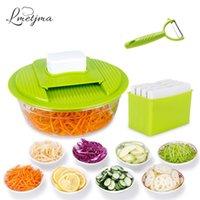 LMETJMA Mandoline Gemüse Slicer Edelstahl Schneiden Gemüse-Reibe Kreative Küche Gadget Karotte Kartoffelschneider LK0728A 201112