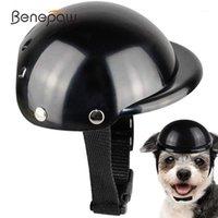 Benepaw Komfortable gepolsterte Hunde-Motorrad-Helm-haltbarer stilvoller einstellbarer Riemensicherheits-Haustierkappe zum Radfahrenkopfschutz1
