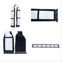 Blank Sublimation Fleece Schal Weiß Schwarz Plaid Quasten Winter-Thremal Wärme Schals Erwachsene Kinder-Panel Plaids DIY doppelte Schichten F110502