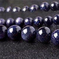 1 الرطاط 4 6 8 10 12 ملليمتر الطبيعية الأزرق الرمال حجر سحر جولة الخرز فضفاض فاصل حبة للمجوهرات جعل diy h bbyyif