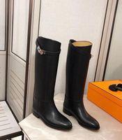 Kış Moda Lady Toka Martin Uzun Çizme Konfor Gerçek Deri Kelly Kadınlar Tall Boots Şövalye Üzeri Cizme Boyut 35-42