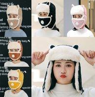 النساء القبعات الشتاء الأذنين الدافئة رشاقته حماية الأذن قبعة الإناث فو الفراء منفذها القبعات الأزياء الأذن حماية الصلبة كاب DB167