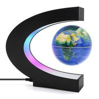 World Map lampada della sfera di levitazione magnetica del globo di luce di notte galleggiante Raffreddare Illuminazione Ufficio della decorazione della casa Globo Terrestre lampada C1007