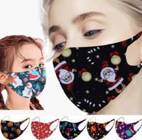 2021 Noel Maske Web Ünlü Yıldız Cadılar Bayramı Baskı Kış / Kış Buz Pamuk Yetişkin Olmayan Tek Yıkanabilir Toz Yıkanabilir Yüz maskesi