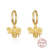 후프 Huggie des Boucles d 'Oreilles 여성 디자이너 귀걸이 925 스털링 실버 귀걸이 꿀벌 멋진 바람 크리스마스 Aretes de Oro