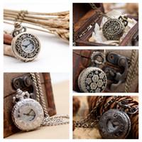 Новые маленькие три цветочные карманные часы ожерелье старинные аксессуары оптом корейская свитер цепи белый сталь римский свинец черный маленький цифровой H