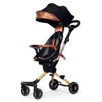 Cochecitos # Cochecito de bebé Luz plegable Peso de cuatro vías Cuáderas de dos vías High Landscape Childs Artifact Buggy Carro de viaje
