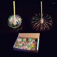 Engraçado Magia Brinquedo Sparkling Spindle Varinha Amazing Rodar Colorido Bubble Forma Forma Glow Stick Brinquedos Para Crianças Presentes MF9991