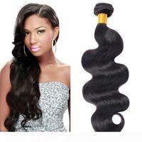 Бразильская волна для тела, плетеные волосы пучки на один PCS много естественных черных дешевых бразильских волос необработанные бразильские девственные волосы
