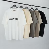 2021 hombres camisetas primavera y verano reflectante manga corta cuello redondo camiseta sólida con 3 colores Tamaño asiático S-XL T9