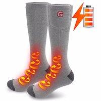 Sports Socken Winter 2.4V Jahr Geschenk Hitze Knie Hohe Strümpfe Batterie Heizung Fuß Erwärmung Baumwolle elektrisch erhitzt