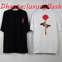 2021 Yeni Erkek Mektubu Baskılı Moda Yaz Nefes Tee Rahat Basit Erkekler Kadınlar Sokak Kısa Kollu T Shirt Tops