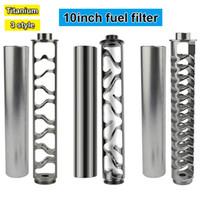 Kit de filtro de combustível de alumínio de 10 polegadas 1/2-28 5/8-24 TRAP SOLVENT para NAPA 4003 WIX 24003 Filtros Automotive Veículo Filtro de Óleo modificado