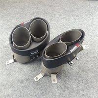 1 زوج سيارة التصميم كاتم الصوت تلميح لأكبرابوفوفي أنابيب العادم RS7 RS6 RS4 RS4 فوهات Tailpipe