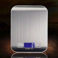 5000g / 1g LED Elektronik Dijital Mutfak Terazi İşlevli Gıda Ölçeği Paslanmaz Çelik LCD Hassas Takı Ölçeği Ağırlık Balan 10 L2
