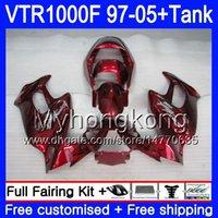 Körper + Tank für Honda Superhawk VTR1000F 97 98 02 03 04 05 56HM.105 VTR1000 F Vtr 1000 F 1000F 1997 2002 2003 2004 2005 Verkleidung Metall rot heiß