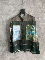 2021 Summer New Fashion Mens Designer Belle camicie da stampa ~ Camicie di dimensioni US Dimensioni Oversize ~ Great Mens Designer Button Shirt manica lunga