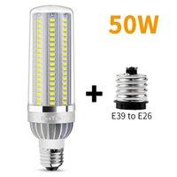 vendita all'ingrosso di alto potere LED luce del cereale di 25W 35W 50W Candela Bulb 110V E26 E27 LED / alluminio ventola di raffreddamento nessuna luce intermittente della luce