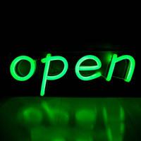 Open Sign Store Restaurant Bar Geschenk Shop Tür Dekoration Board LED Neonlicht 12 V Super Hell