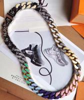 Hip Hop Bling Moda Zincirleri Takı Erkek Altın Gümüş Miami Küba Link Zinciri Kolye Elmas Kutusu Ile Chian Kolye