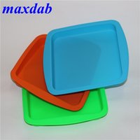 """wholesale silicone wax dish deep pan square shape 8""""X8"""" friendly Non Stick Silicone dab pad Concentrate food grade silicone tray DHL"""