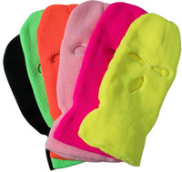 Balaclava Mask Hat Winter Cover Neon Mask Green Halloween Caps For Party Motorcycle Bicycle Ski Cycling Balaclava Pink Masks Cosplay Cap TK3