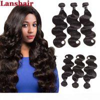 Onda del cuerpo del cabello virgen brasileño sin procesar 8A Malasia Remy Human Hair Weave 3 PCS Lot Lot Brasileño Haavy Weave Bundles Body Wave