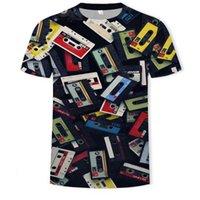 2021 Summer Fashion Uomo 3D Retro stampa T-shirt casual T-shirt Nostalgica Abbigliamento Asiatico Taglia 110-6XL