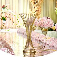Decorative Flowers & Wreaths Iron Flower Stand Vase Wedding Props Wrought Artificial Table Centerpieces Road Guide Ball Decoration1