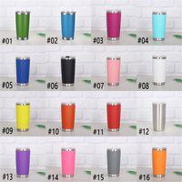 Heiße 16 Farben 20 Unzen Becher Edelstahl Vakuum isoliert Doppelwand Weinglas Thermalbecher Kaffee Bier Becher mit Deckeln für Reisen FY4412