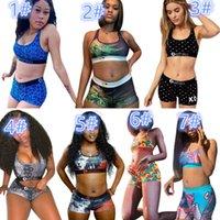 7 цвет Ethika женщин дизайнерские купальники спортивный бюстгальтер + шорты 2 шт.