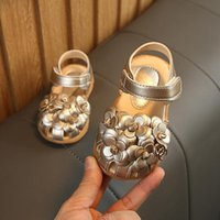 Baby Girls First Walkers Summer Golden Color Babies Shoes fo...