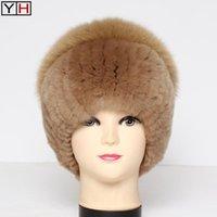 Mode Natürliche Echt Rex Pelzkappe Frauen Winter Warme Echt Pelzkappen Dame Handmade 100% Echte Rex Hüte1