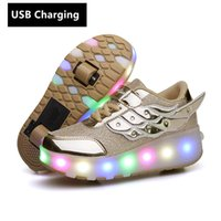 Orange USB fashion and girls, LED light boys, sports shoes f...