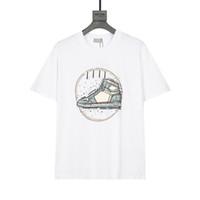 Duyou 2021ss Yeni T-Shirt Erkek Ve Kadın T Shirt Basketbol Ayakkabı Baskılı Logo Kısa Kollu Tee Marka Giyim Tops XS-L FZW81541