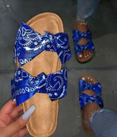 Kadınlar Bow Terlik Ayakkabı Yaz Sandalet Leopar Düz Süet Günlük Moda Plajı Ayakkabı Kadın Terlik 569-1