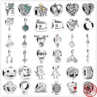 925 Sterling Silver sweet home family girl boy bead fit Pand...