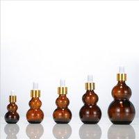 30 ml GOURD-flaskor glas flytande reagenspipettflaska droppare med runda huvudglasögon dropper plast kepsar grossist 224 J2