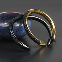 Acier inoxydable bracelet en cuir véritable bracelet en cuir bracelet de mode hommes et femme ouverte brancher Bangles en gros 5pcs / lot meilleur bracelets cadeaux