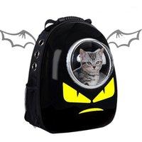 Носители кошек, ящики Дома Астронавта Bagpack Носитель для прозрачного рюкзака Pet Rackpack Transportin Travel Travel Bag ветрозащитная дышащая