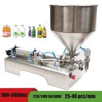 Sıvı Dolum Makinesi Pnömatik 304 Paslanmaz Çelik Kafaları Şampuan Su Yağı Yarı Otomatik Dolgu Yapıştır Sıvı Dolum Makina Hassasiyetli Ücretsiz Shi