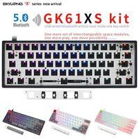 Keypro gk61x gk61xs gk61xs pcb rgb 60% 61keys hot swap pcb teclado mecânico com fio bluetooth espaço substituto de cereja mx switch diykit1
