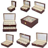 Capas de relógio Capas Lism Luxo Wood Storag 2/3/5/6/10/12/20 Relógios Caixa de exibição Jóias Caso Organizador Promoção1