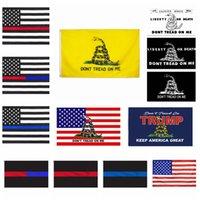 DONT تدوسوا ME العلم 90 * 150 سم غادسدن العلم الأزرق خطا أحمر العلم الأفعى الأصفر لافتات رابحة USA الأعلام الديكورات المنزلية cyf4469